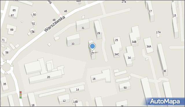 Warszawa, Warszawska, 27, mapa Warszawy