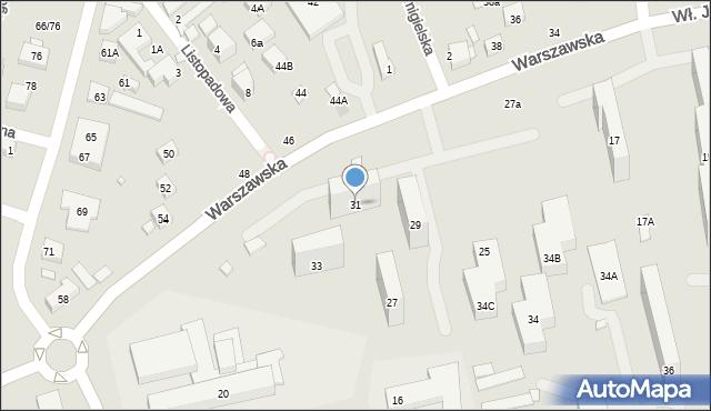 Warszawa, Warszawska, 31, mapa Warszawy