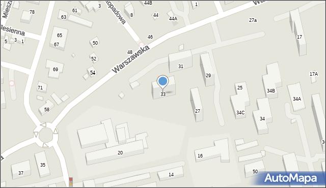 Warszawa, Warszawska, 33, mapa Warszawy