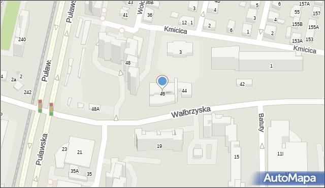 Warszawa, Wałbrzyska, 46, mapa Warszawy