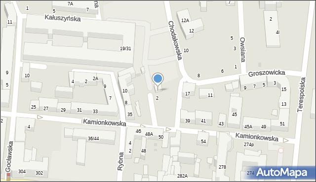 Warszawa, Wawerska, 4, mapa Warszawy