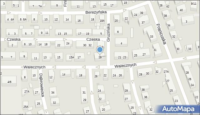 Warszawa, Walecznych, 19, mapa Warszawy