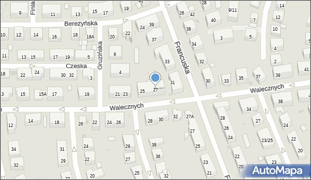 Warszawa, Walecznych, 27, mapa Warszawy