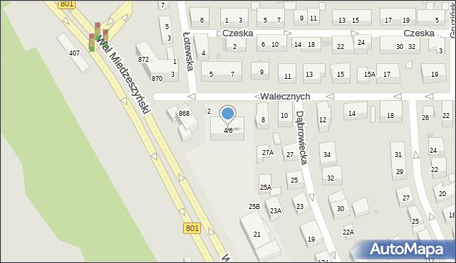 Warszawa, Walecznych, 4/6, mapa Warszawy
