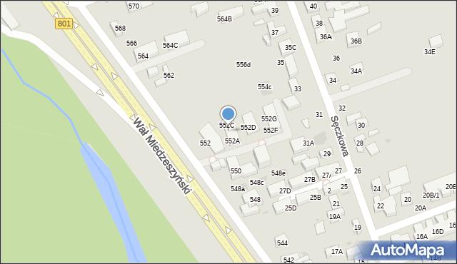 Warszawa, Wał Miedzeszyński, 552B, mapa Warszawy