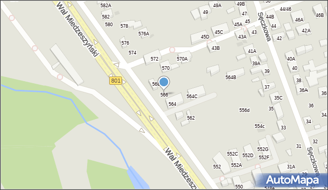 Warszawa, Wał Miedzeszyński, 566, mapa Warszawy