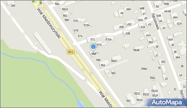 Warszawa, Wał Miedzeszyński, 568, mapa Warszawy