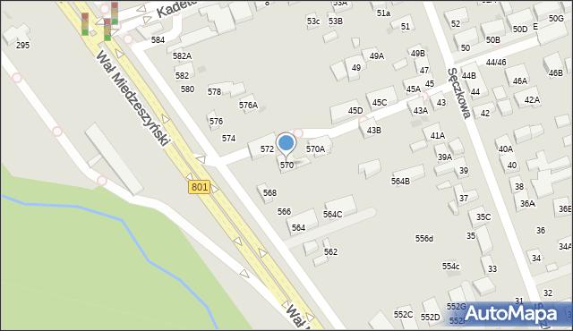 Warszawa, Wał Miedzeszyński, 570, mapa Warszawy
