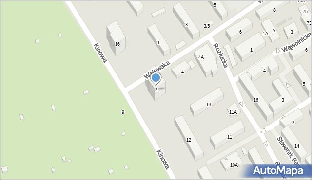 Warszawa, Walewska, 2, mapa Warszawy