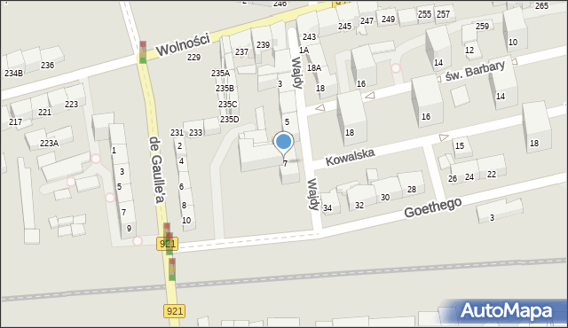 Zabrze, Wajdy Józefa, ks., 7, mapa Zabrza