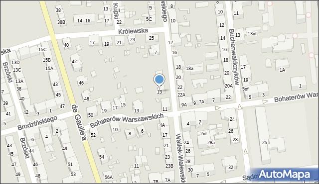 Zabrze, Wallek-Walewskiego Bolesława, 13, mapa Zabrza