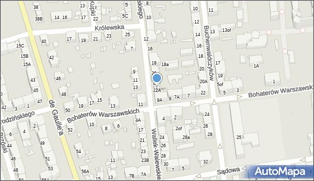 Zabrze, Wallek-Walewskiego Bolesława, 22A, mapa Zabrza