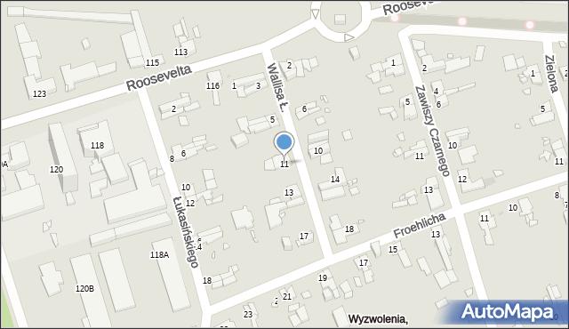 Zabrze, Wallisa Łukasza, 11, mapa Zabrza