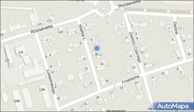 Zabrze, Wallisa Łukasza, 12, mapa Zabrza