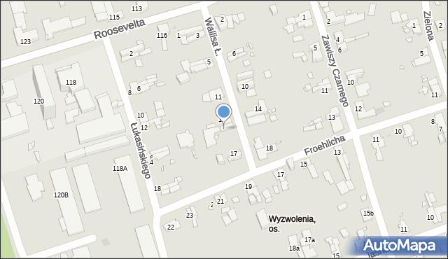 Zabrze, Wallisa Łukasza, 15, mapa Zabrza