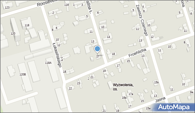 Zabrze, Wallisa Łukasza, 17, mapa Zabrza
