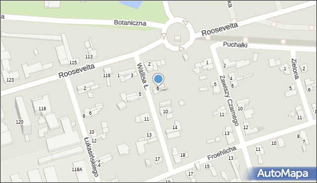 Zabrze, Wallisa Łukasza, 8, mapa Zabrza