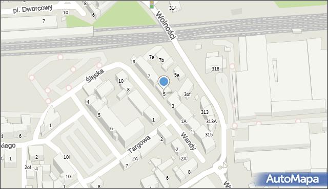 Zabrze, Wandy, 5, mapa Zabrza