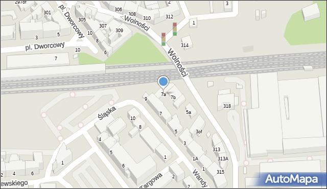Zabrze, Wandy, 7a, mapa Zabrza