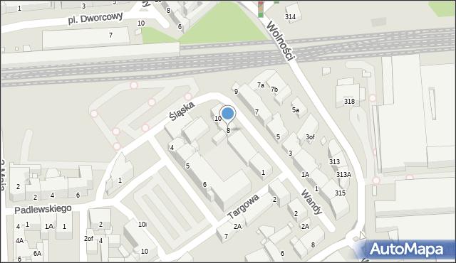 Zabrze, Wandy, 8, mapa Zabrza