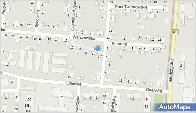 Zabrze, Warszawska, 2, mapa Zabrza