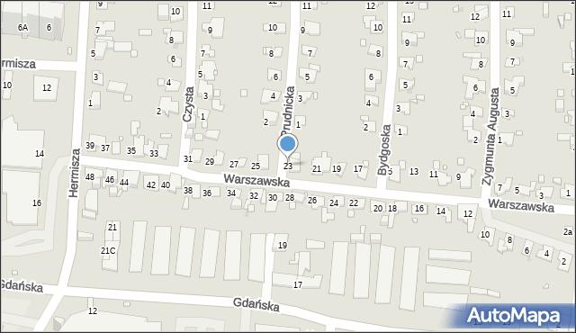 Zabrze, Warszawska, 23, mapa Zabrza