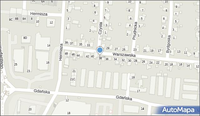 Zabrze, Warszawska, 38, mapa Zabrza