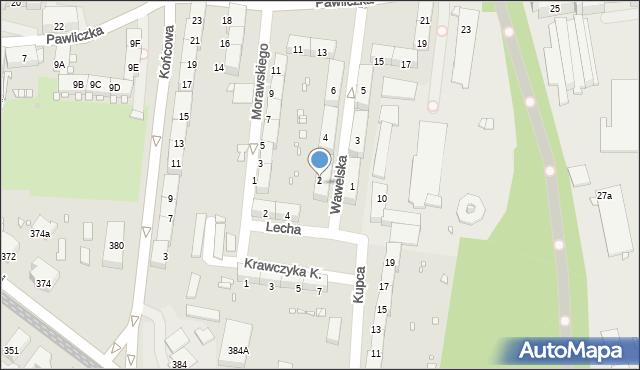 Zabrze, Wawelska, 2, mapa Zabrza
