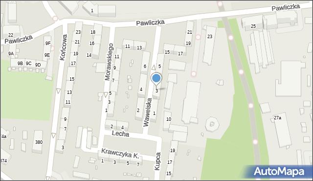 Zabrze, Wawelska, 3, mapa Zabrza