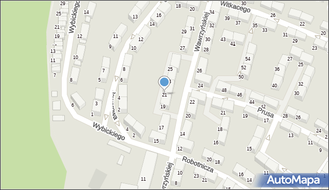 Zabrze, Wawrzyńskiej Ludwiki, 21, mapa Zabrza