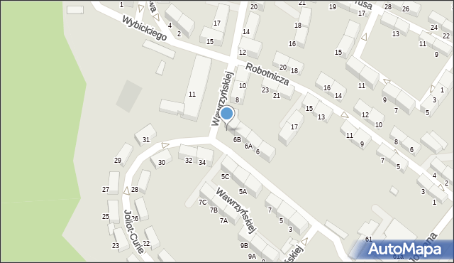 Zabrze, Wawrzyńskiej Ludwiki, 6C, mapa Zabrza