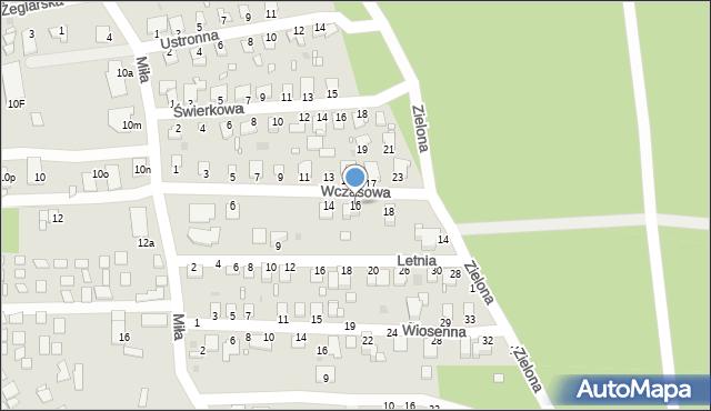 Grudziądz, Wczasowa, 16, mapa Grudziądza