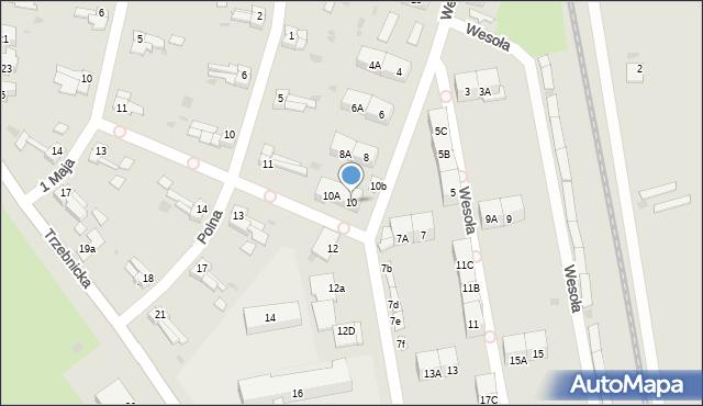 Chocianów, Wesoła, 10, mapa Chocianów