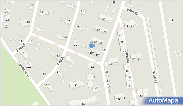 Chocianów, Wesoła, 10A, mapa Chocianów