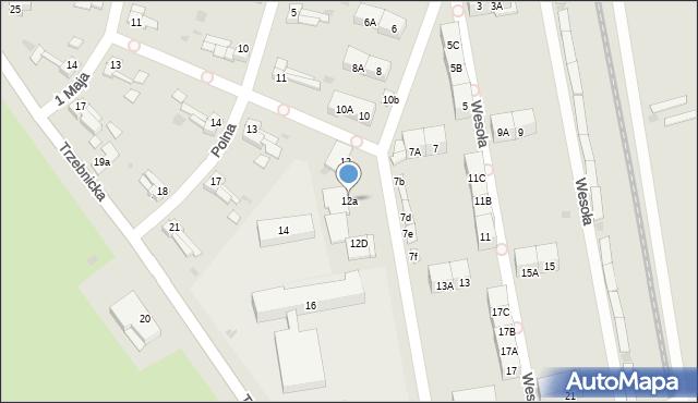 Chocianów, Wesoła, 12a, mapa Chocianów