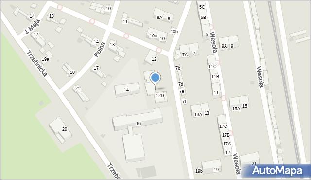 Chocianów, Wesoła, 12b, mapa Chocianów