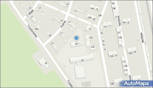 Chocianów, Wesoła, 14, mapa Chocianów