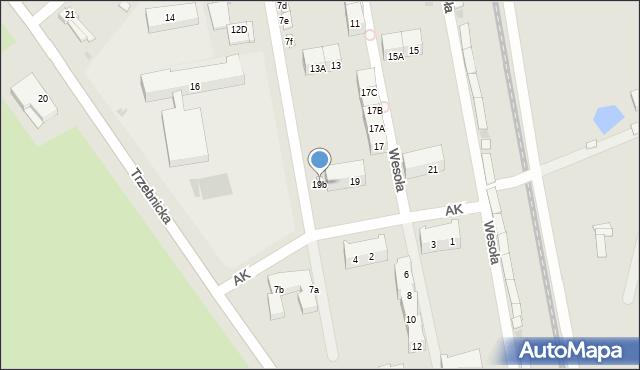 Chocianów, Wesoła, 19b, mapa Chocianów