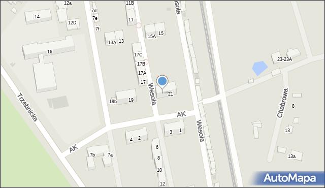 Chocianów, Wesoła, 21A, mapa Chocianów