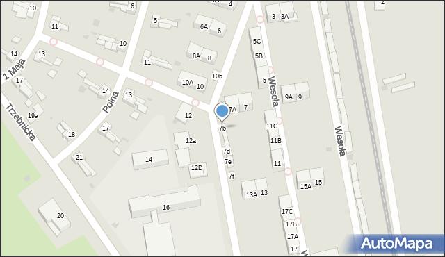 Chocianów, Wesoła, 7b, mapa Chocianów