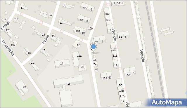 Chocianów, Wesoła, 7c, mapa Chocianów
