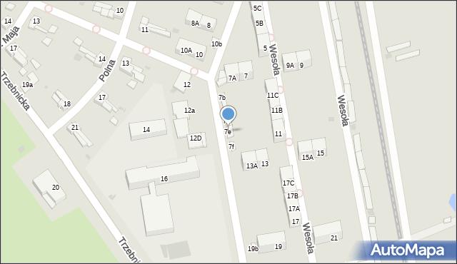 Chocianów, Wesoła, 7e, mapa Chocianów