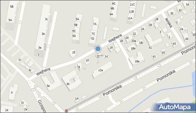 Gdańsk, Wejhera Jakuba, 12, mapa Gdańska