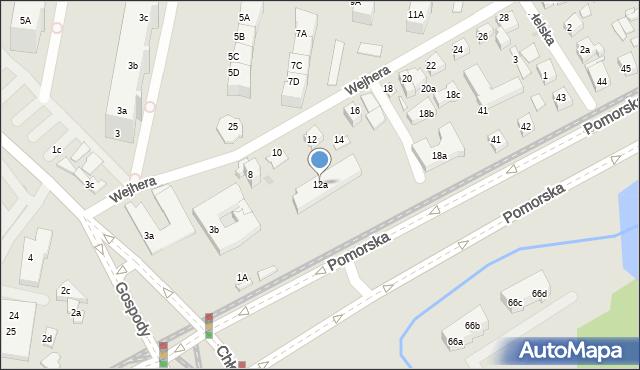 Gdańsk, Wejhera Jakuba, 12a, mapa Gdańska