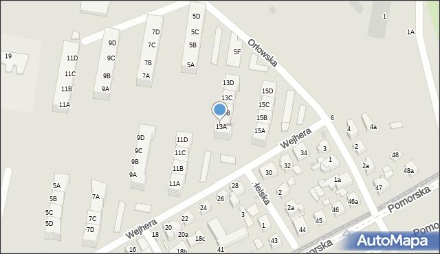 Gdańsk, Wejhera Jakuba, 13A, mapa Gdańska