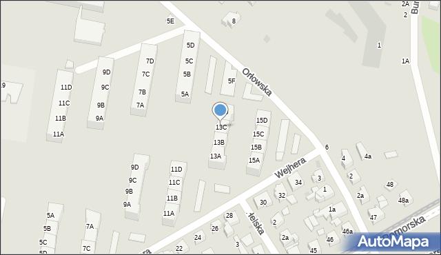 Gdańsk, Wejhera Jakuba, 13C, mapa Gdańska