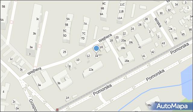 Gdańsk, Wejhera Jakuba, 14, mapa Gdańska