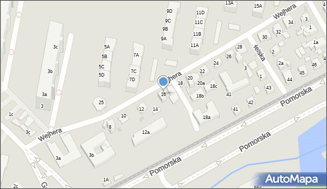 Gdańsk, Wejhera Jakuba, 16, mapa Gdańska
