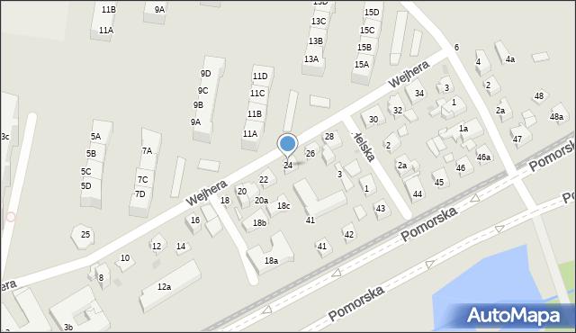 Gdańsk, Wejhera Jakuba, 24, mapa Gdańska