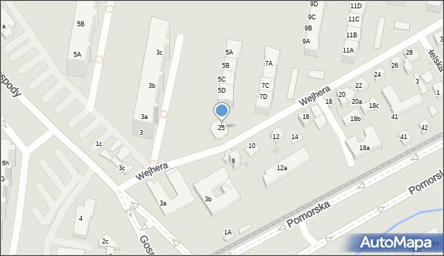 Gdańsk, Wejhera Jakuba, 25, mapa Gdańska